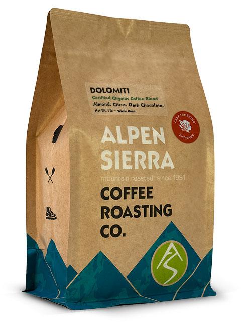 dolomiti certified organic coffee