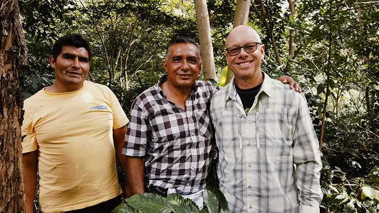 partnering with small coffee farm