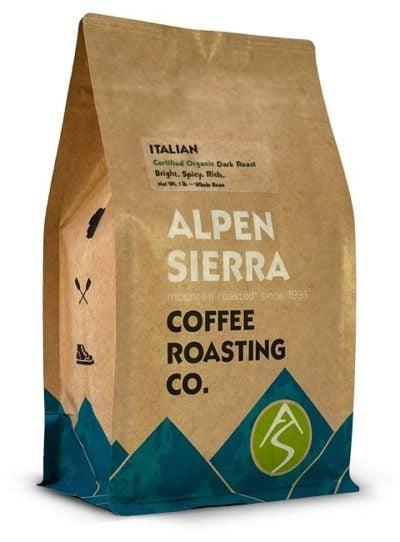 alpen sierra italian organic coffee